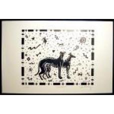 Celestial (Black on White) - 11x17 Print