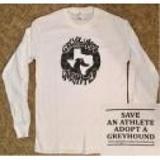 GU Graffiti Style Logo - Unisex Long Sleeve T-Shirt (White)
