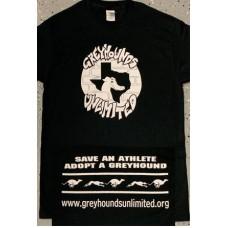GU Graffiti Style Logo - Unisex Short Sleeve T-Shirt (Black)