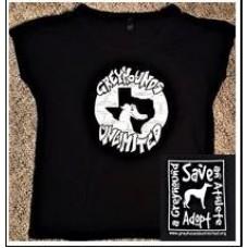 GU Graffiti Style Logo Ladies T-Shirt (Black)