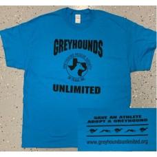 GU Logo T-Shirt - Sapphire Blue