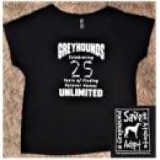 GU Celebrating 25 years Ladies T-Shirt (Black)