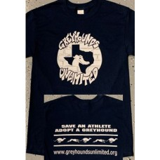 GU Graffiti Style Logo - Unisex Long Sleeve T-Shirt (Navy)